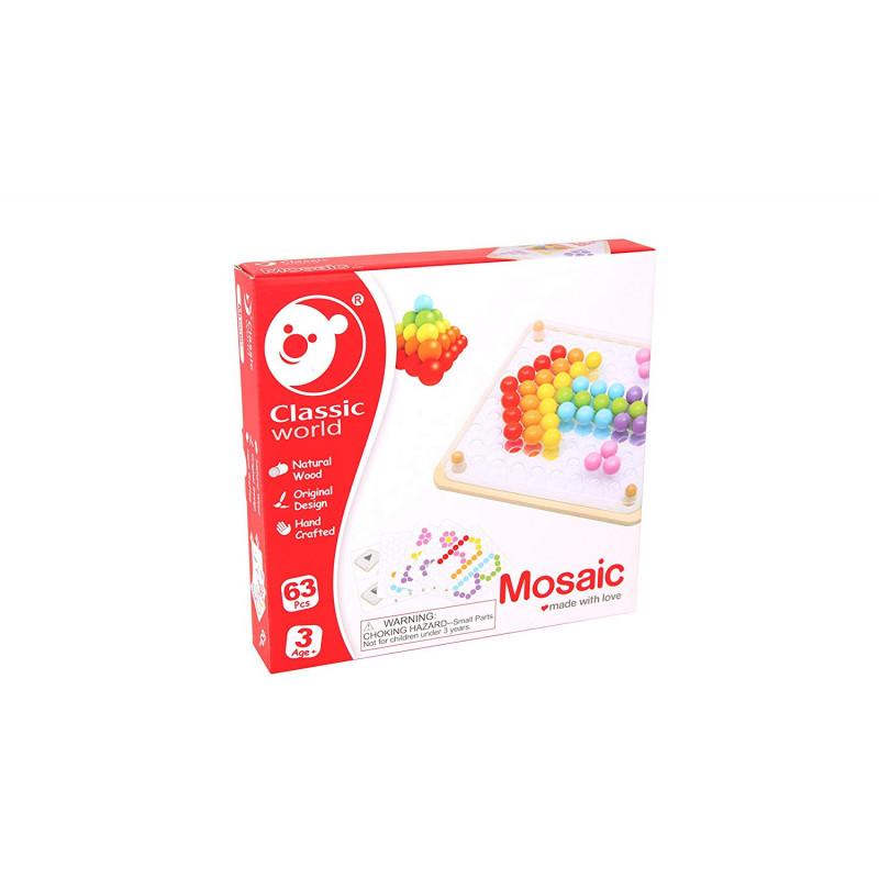 Мозаика-конструктор Волшебные шарики 63дет.