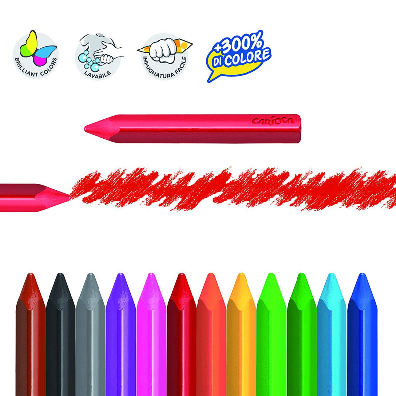 Восковые карандаши maxi 12цв.