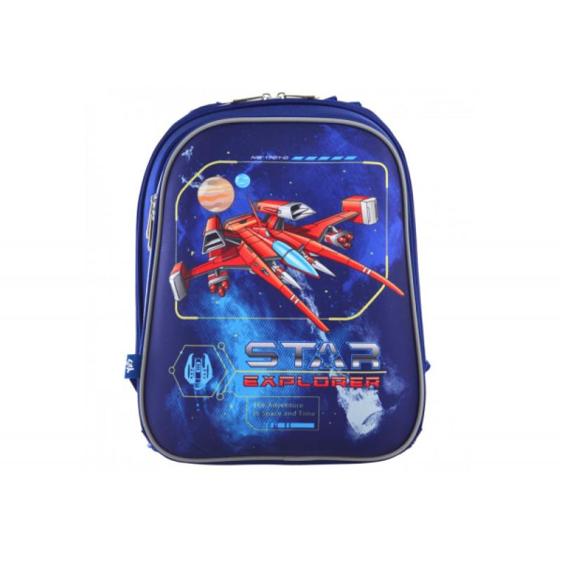 """Рюкзак школьный каркасный 1 Вересня H-12 """"Star Explorer"""""""