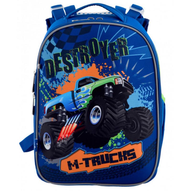 Рюкзак школьный каркасный YES H-25 M-Trucks